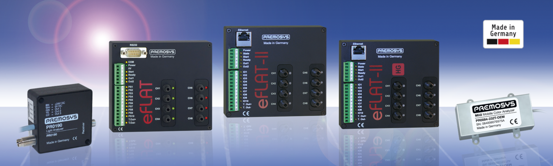 The LED analyzers of PREMOSYS